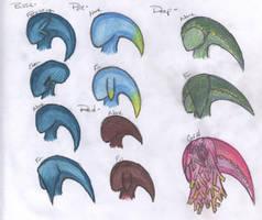 Sea Zora Ear Fins by Beasts-of-Blood