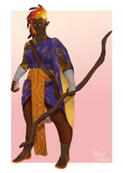 Ishi, Fire Genasi Monk