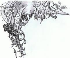 Skull by tessiboll
