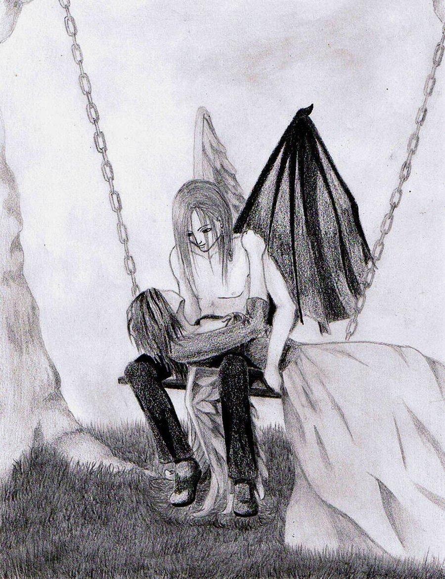 Dark Love Drawings love by a-dark-Angel o...