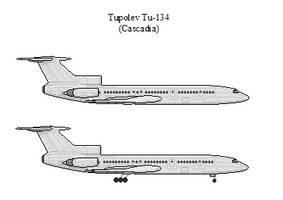 Tupolev Tu-154 by CascadiaSB