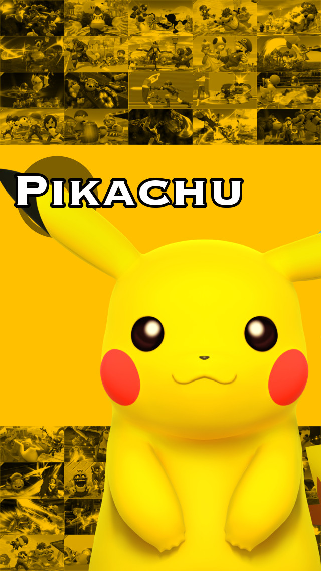 smash 4 iphone wallpaper pikachu by happymasksales on