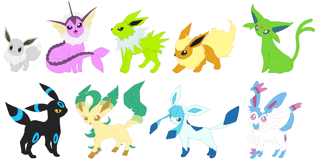 Shiny Eeveelutions By Ayang888 On DeviantArt
