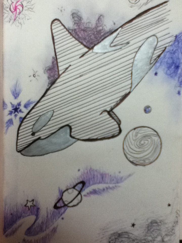 space whale by peanutbutterfox