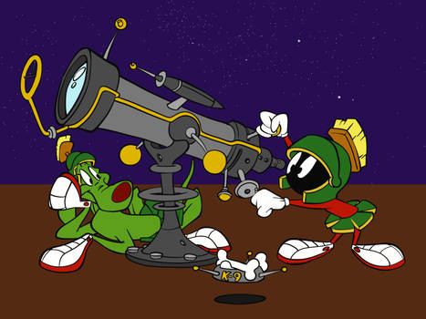 Marvin the Martian and K9
