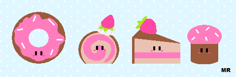 Pastry colection - pixels by Kittyportugal