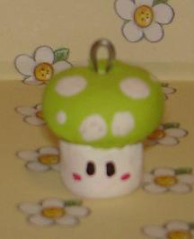 mushroom clay charm by Kittyportugal