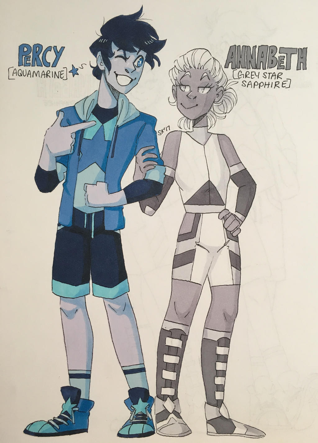 Percy and annabeth gem redesigns by shelbyecandraw on for Maker jackson
