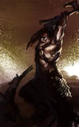 1 hr speedpaint - Barbarian Clash