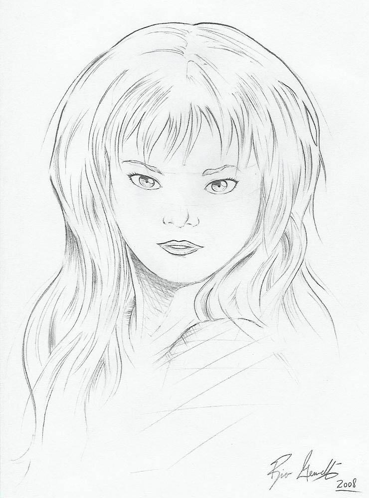 Preteen Girl Sketch by Gewelt