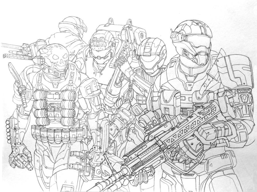 Halo Reach: Noble Team by leonalmasy on DeviantArt