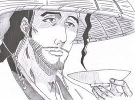 Shunsui Kyoraku Pencil by dtwothaniel