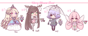 [OPEN] Adoptables Set 2: Cherry Blossom Forest by Catalola78