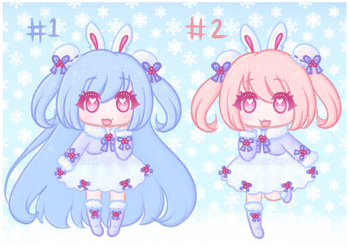 [OPEN 2/2] Snowberry Bunny Adoptables