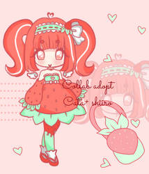 [CLOSED] Strawberry Angel Adoptable