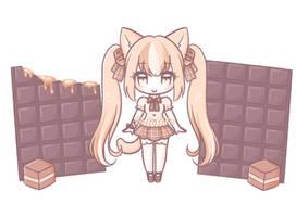 Caramel Chocolate Cat Custom Adopt