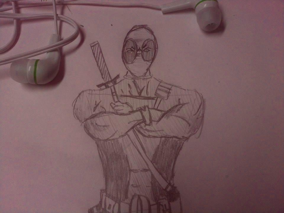 doodleing Deadpool by vertenyi