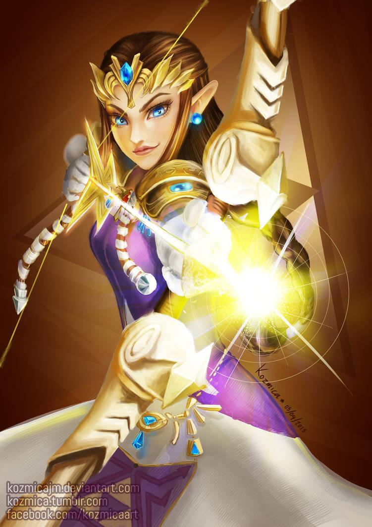 Princess Zelda Archer by kozmica64