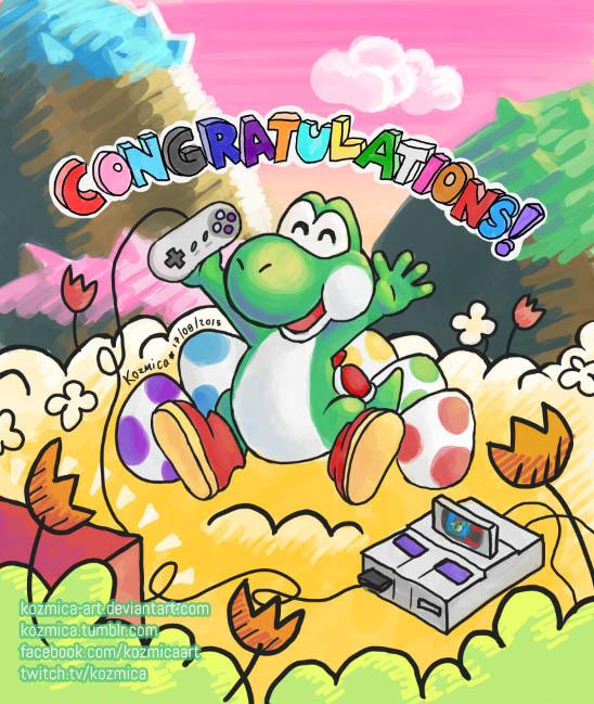 Yoshi Congratulations! by kozmica64