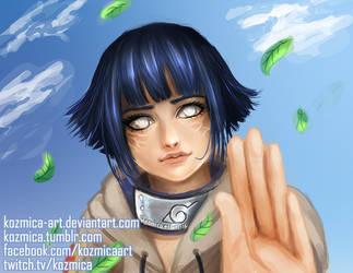 Hinata Hyuga (Naruto) portrait by kozmica64