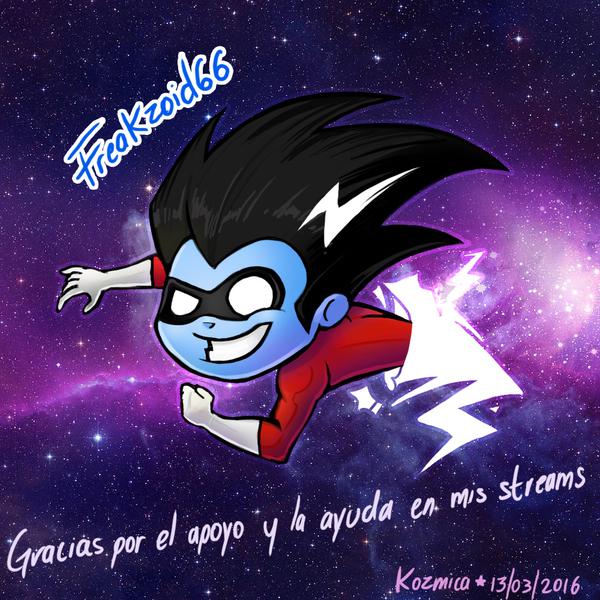 Freakzoid66 - Twitch Sub Chibi by kozmica64