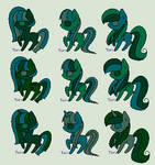 Blue And Green Adoptable Pony Pack