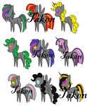 Grey Adoptable Pony Pack