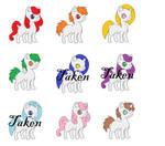 White Adoptable Pony Pack