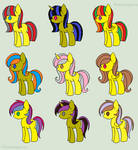 Yellow Adoptable Pony Pack (CLOSED)