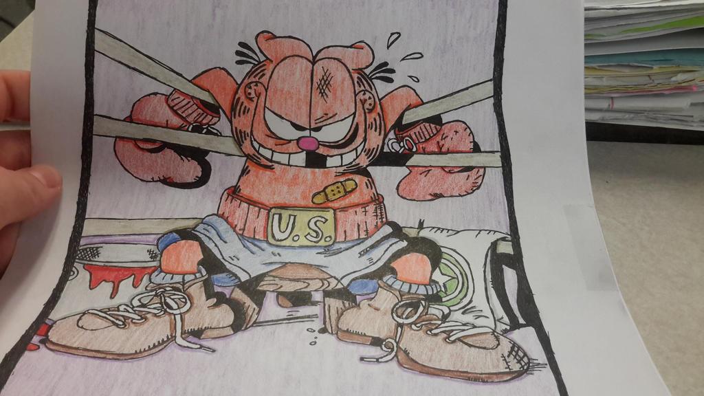 Wrestler Garfield by BlueBookWard