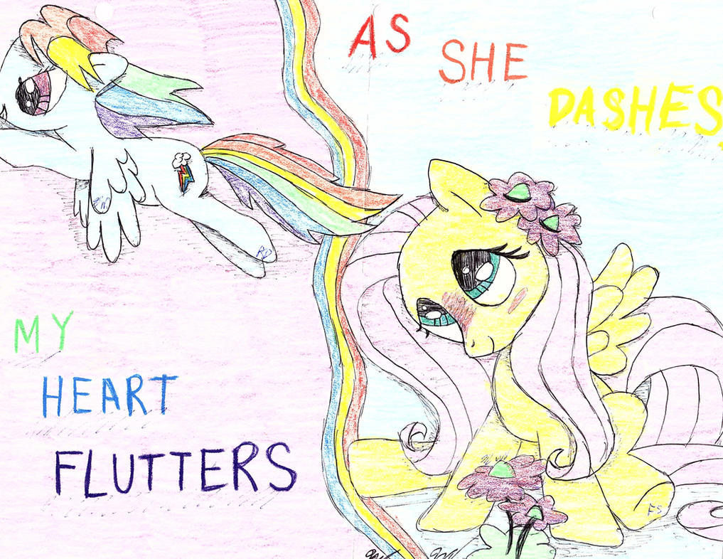 As She Dashes My Heart Flutters by BlueBookWard