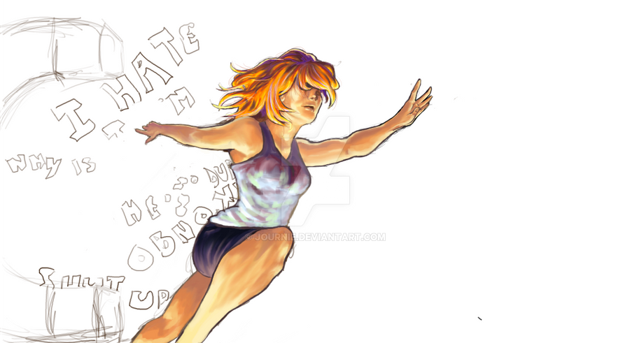 WIP - Run Away From Dark Thoughts by Journie
