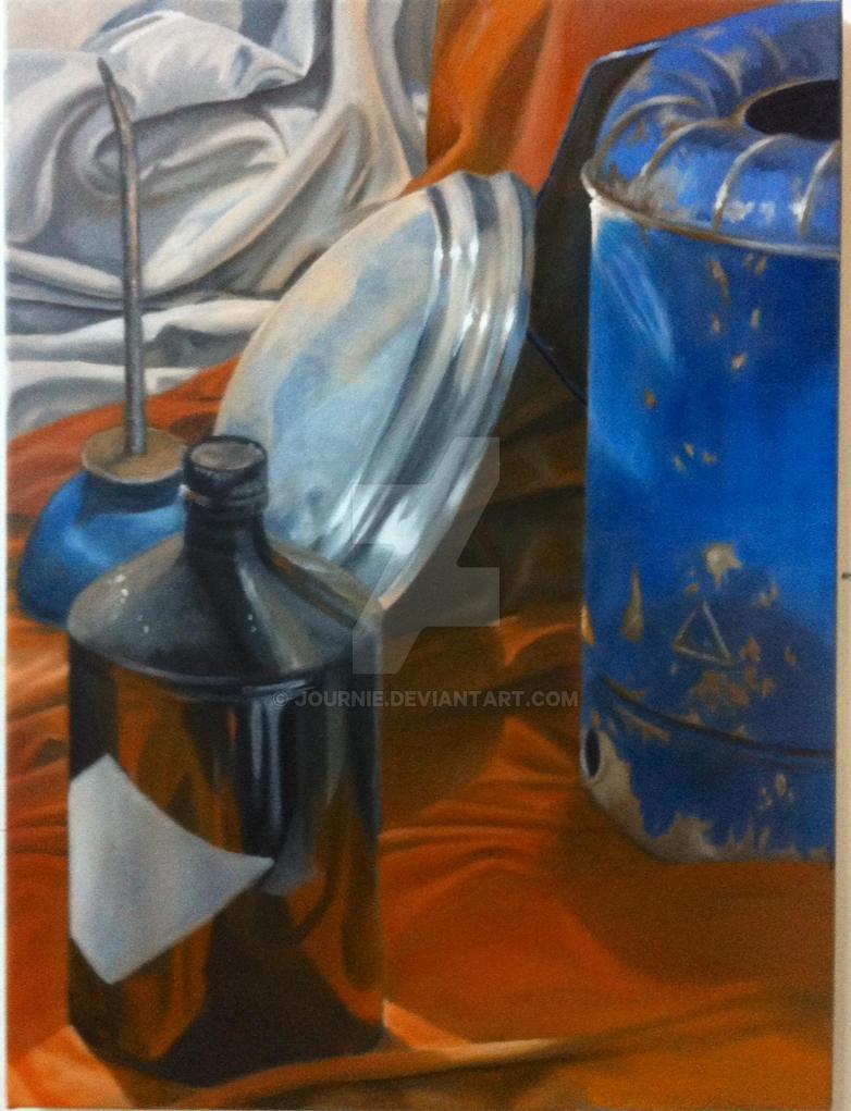 Oil Still Life by Journie