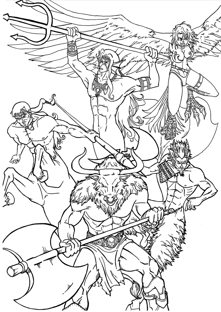 Greek mythology by 0 pau 0 on deviantart for Coloring pages of greek gods