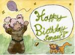 Happy Birthday Sensei -card-