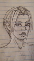 elf girl sketch 2