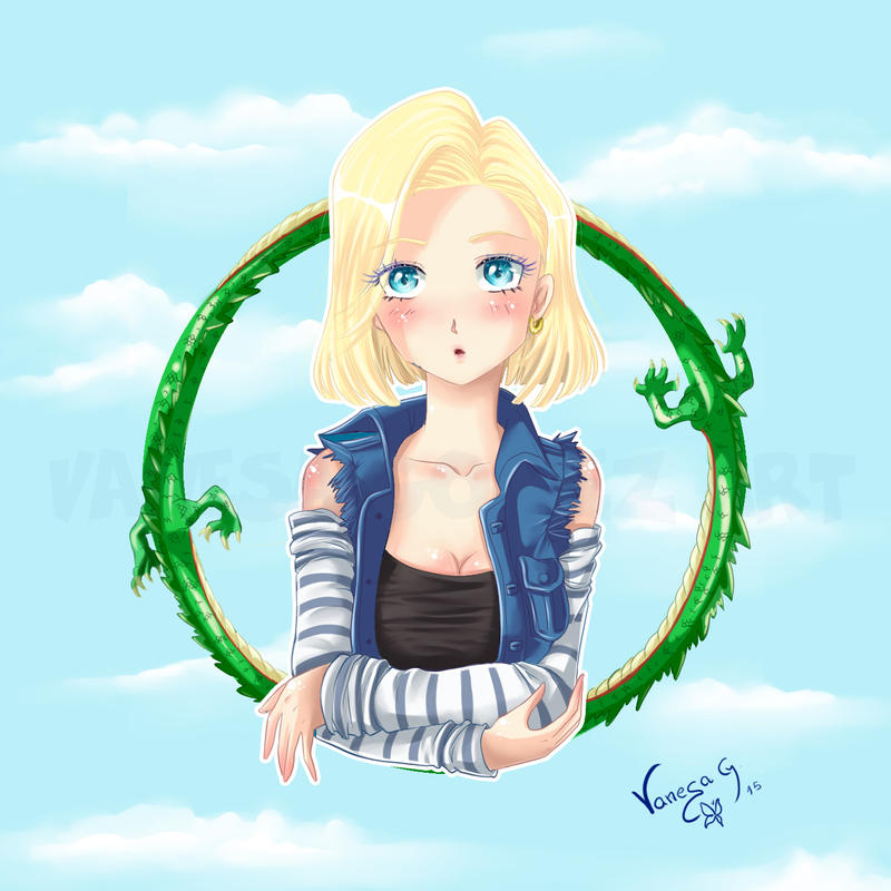 Android 18 And Tail Deviantart: Android C18 Dragon Ball ( Speed Painting) By Batusa On