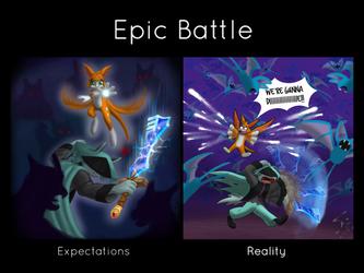 Epic Battle by SkylerCraft16