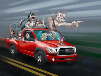Werewolf Road Trip by SkylerCraft16