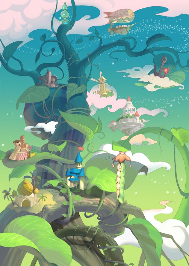 the kingdom of pea tree by waywayart