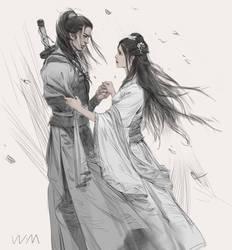 Yang Guo and Xiao Longnv