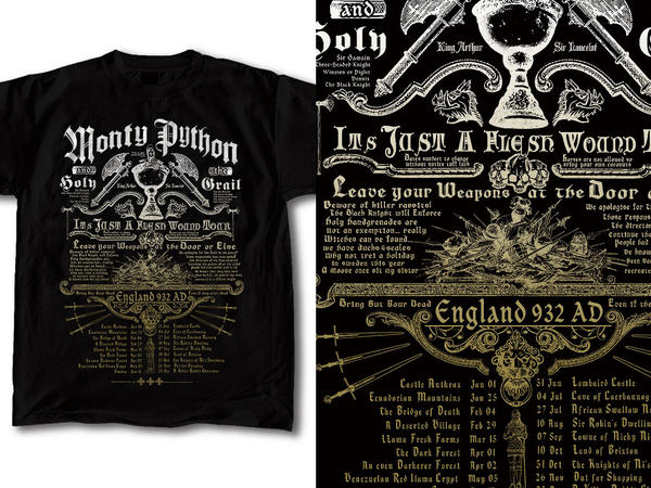 T-Shirt Design Monty Python 02 by RobDuenas