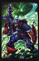 Captain America 01  Orig Color by RobDuenas