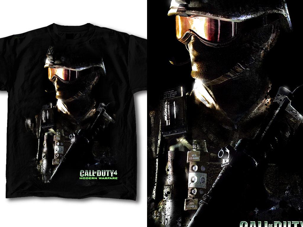 Shirt design wallpaper - T Shirt Design Call Of Duty 04 By Robduenas