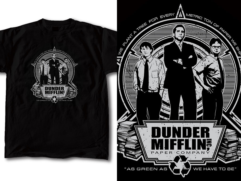 T shirt design the office 01 by robduenas on deviantart for How to trademark at shirt design