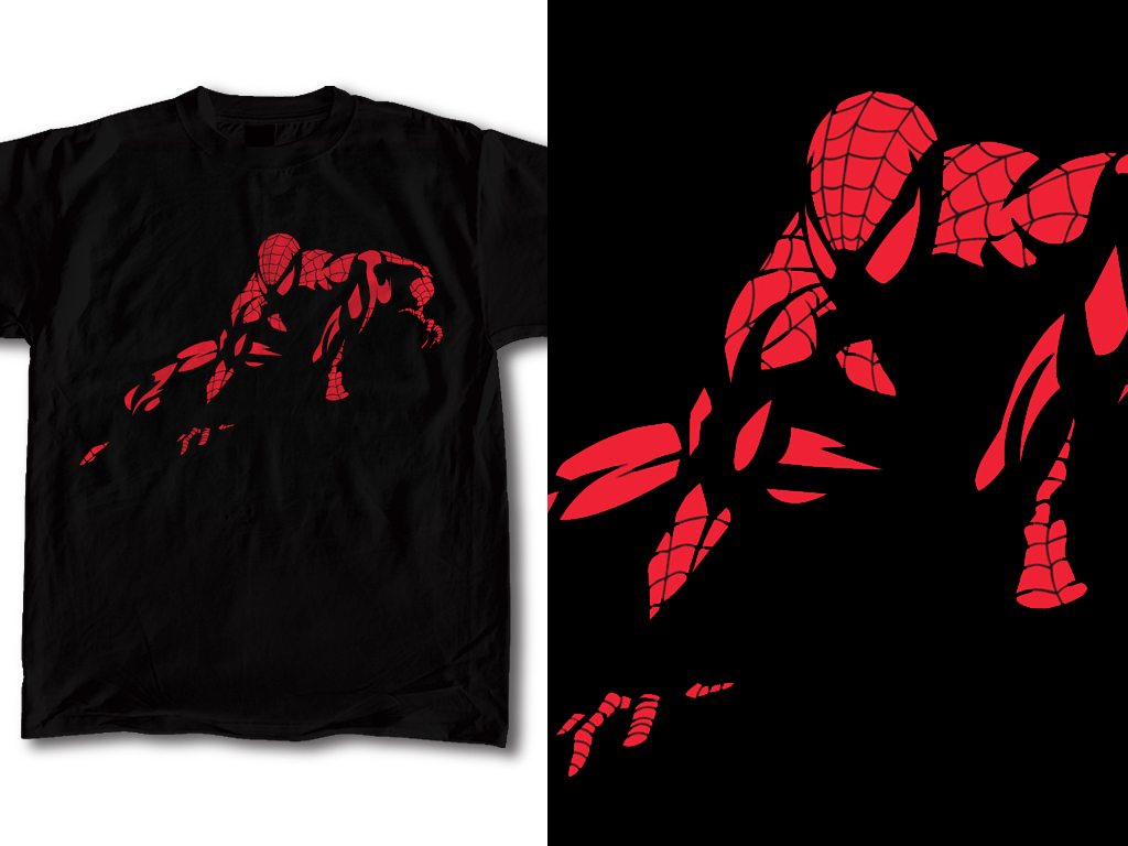 Design t shirt artwork - Spiderman T Shirt Design 01 By Robduenas