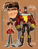 Captain Marvel  Sketch 001 by RobDuenas