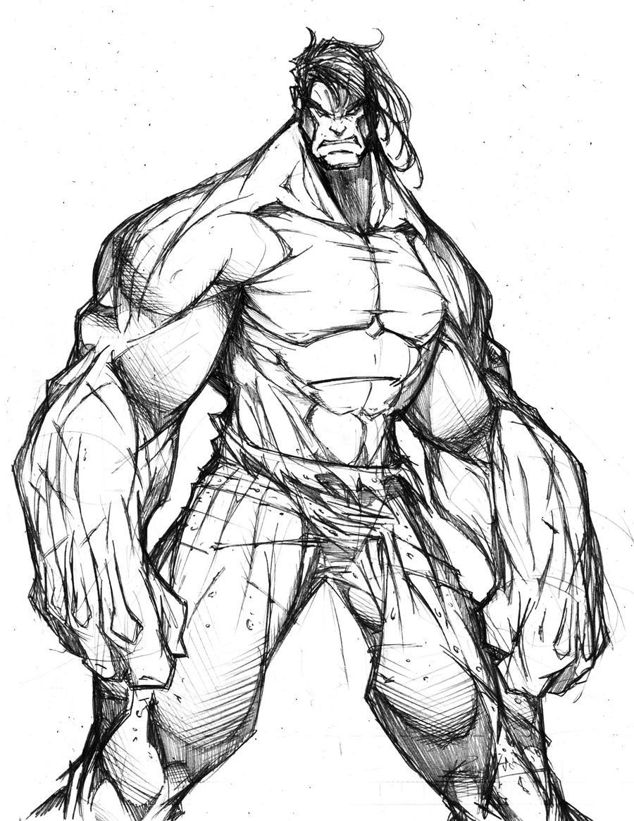 Hulk Drawing Mo... The Incredible Hulk Sketch