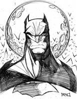 Morning Sketch - Batman 01 by RobDuenas
