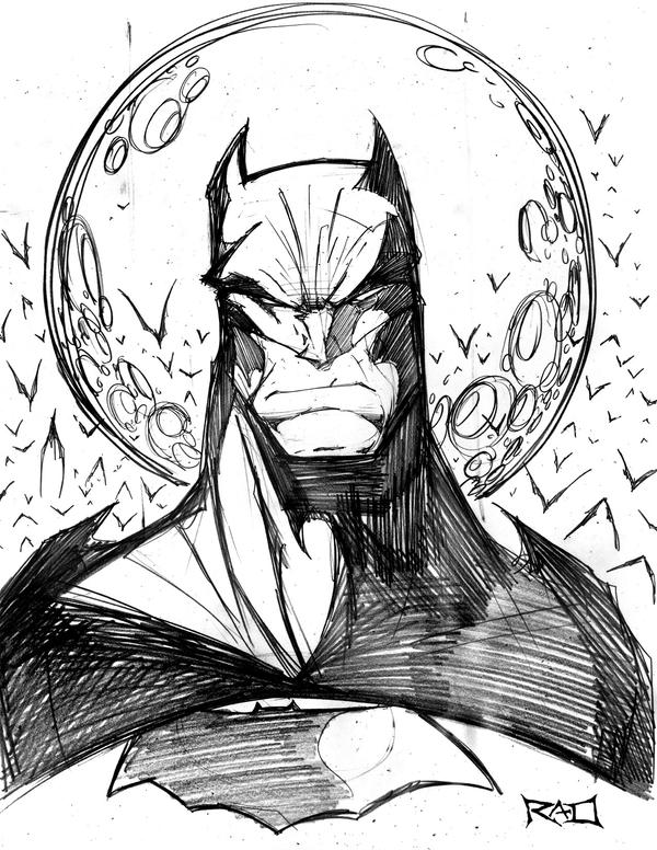morning sketch batman 01 by robduenas